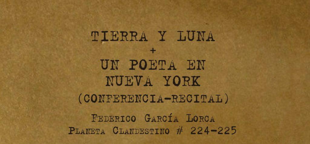 Odnaleziony w Nowym Jorku zbiór wierszy Lorki Tierra y Luna
